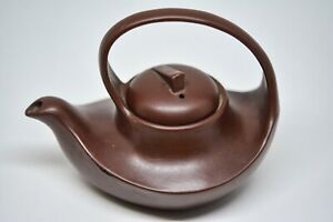 Vintage Chinese Yixing Pottery Teapot 4 Inches Tall