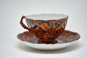 Antique Japanese Kutani Egg Shell Butterfly Pattern Tea Cup And Saucer 4
