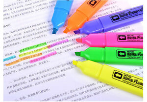 6 Color Pack Set Highlighter Fluorescent Marker Pen Fine Line 5 Mm 0518t