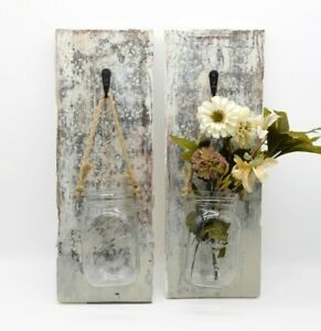 2 Beautiful Rustic Distressed Wall Sconces