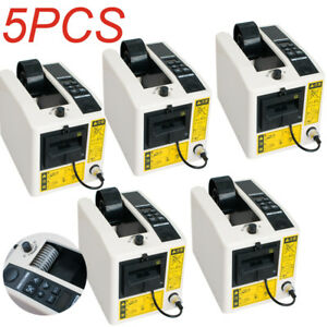 Usa 5pcs Electric Automatic Tape Dispensers Adhesive Tape Cutter Packaging Tool