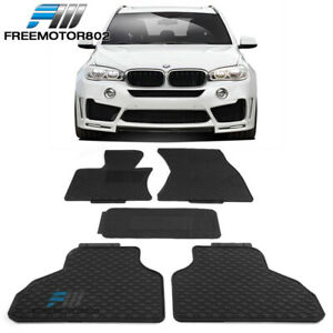 Fits 14 18 Bmw F15 X5 Heavy Duty Latex Floor Mats Front Rear Full Set 5pc