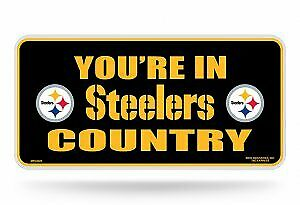 You Re In Steeler Country Metal License Plate