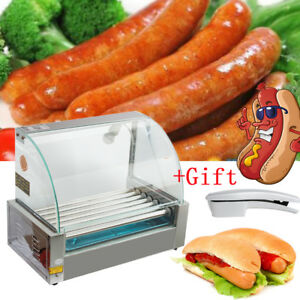 Commercial Electric 18 Hot Dog 7 Roller Grill Cooker Machine Easy Use gift Usa