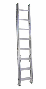 Werner 16 Ft Aluminum Extension Ladder D rungs W Type Ii 225 Lb Duty Rating