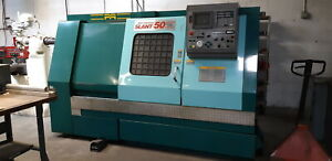Methods Slant 50c 10 Station Turret Cnc Turning Center W yasnac J50l Controls