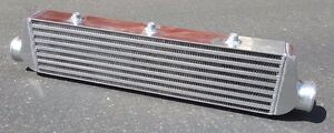Front Mount Intercooler Aluminum Turbo Bar plate 2 50 inlet outlet 27x6x2 5
