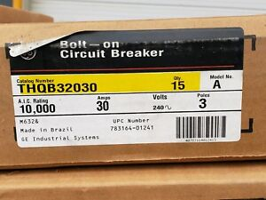 Thqb32030 Ge New 3 Breakers Per Box For One Price 100 Boxes Avail Free Shipping
