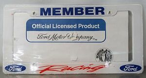 Ford Racing Logo License Plate Frame Official Licensed Product In Wrapper