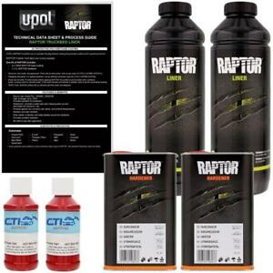 U Pol Raptor Hot Rod Red Urethane Spray On Truck Bed Liner Texture Coating 2l