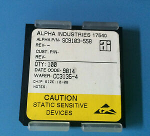 100x Sc9103 558 Alpha Industries Capacitor Chip Rf Microwave Product Size 12 08