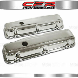 Fits 1968 1981 Buick Sb Small Block 350 V8 Short Steel Valve Covers Chrome