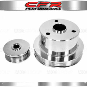 Fits 1994 1996 Chevy Truck 454 7 4l Billet Serpentine Pulley Set Polished