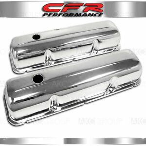 Fits 1957 76 Ford Bb Big Block Fe 352 390 406 427 428 Steel Valve Covers Chrome
