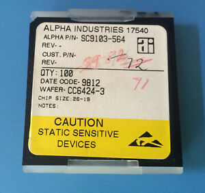 71x Sc9103 564 Alpha Industries Capacitor Chip Rf Microwave Product Size 26 19