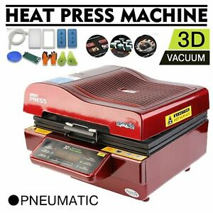 Heat Press Machine 3d Vacuum Sublimation Transfer Cases Mugs Cups Printer New Be