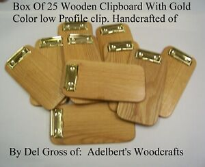 24 Small Wooden Clipboard Memo Clipboard Check Presenter Solid Red Oak Usa