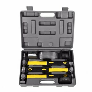 7pcs Set Car Auto Body Panel Repair Hammers Tools Kit With Carry Case Be