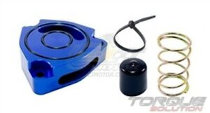 Torque Solution Blow Off Bov Sound Plate blue For Hyundai Veloster Turbo