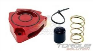 Torque Solution Blow Off Bov Sound Plate red For Hyundai Veloster Turbo