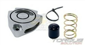 Torque Solution Blow Off Bov Sound Plate silver For Kia Forte Koup Turbo 2014