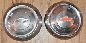 1951 1952 1953 Chevy Hubcaps Wheel Covers Oem 10 Chevy Vintage Hub Caps Pair