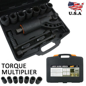 8pc Socket Hd Torque Multiplier Wrench Lug Nut Lugnuts Remover Labor Saving New