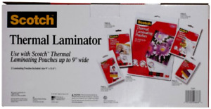 Scotch Thermal Laminator 2 Roller System Silver black 15 5 X 6 75 X 3 75 Inc