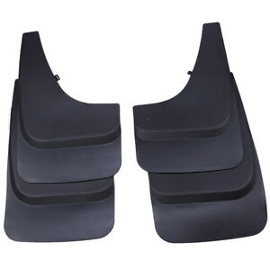 Universal 4pcs Mud Guards Splash Guards Molded Front Rear For Pick up Truck