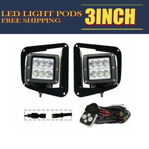 Pair Led Fog Light Kit W 3 4 Inch Spot Led Lights For 14 17 Toyota Tundra