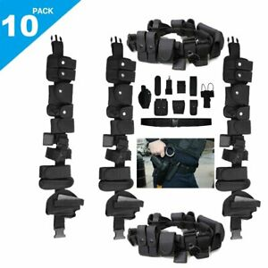 10x Nylon Police Officer Security Guard Enforcement Equipment Duty Belt W Pouch