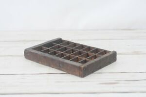 Vintage Divided Wood Box Small Wood Box Storage Wood Shadowbox