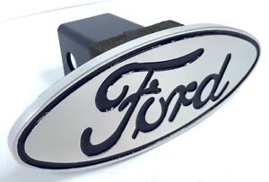 Ford Oval Tow Hitch Cover Ford Logo Emblem Fits 2 Receivers Licensed