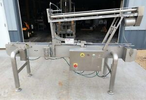 Automatic Inline Tub Lidding Machine With Auto Lid Denester Stainless Steel Sani