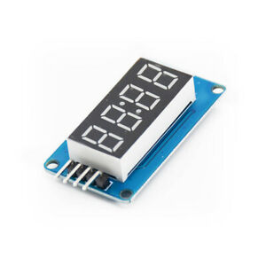 1 50pcs Tm1637 4 Digit Led 0 36 Display Tube Clock Dual Dots Module For Arduino