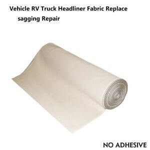 Headliner Fabric With Foam Backing Restore Replace Vehicle Roof Material 60 X60