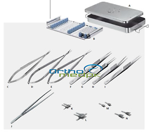 Hand Surgery Basic Set Of Micro Surgical Instruments Grade A Quality