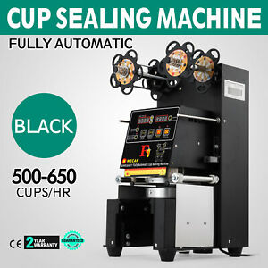 Electric Fully Automatic Cup Sealing Machine Restaurants Fruit Juice 420w 110v