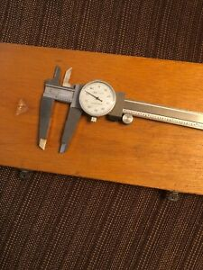 Fowler 8 Dial Caliper 52 010 008 Stainless Steel In Wood Case