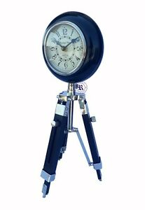 18 5 Vintage Wooden Wall Clock With Tripod Stand Beautiful Replica Gift Item