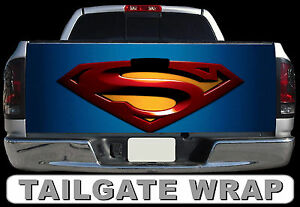 T235 Superman Tailgate Wrap Decal Sticker Vinyl Graphic Bed Cover