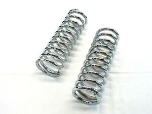 10 Tall Coil Over Shock Springs Id 2 5 Rate 300lb Chrome Bpc 2316c
