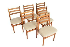 Set Of Six Danish Mid Century Modern Poul Volther J60 Oak Dining Chairs