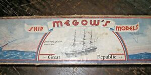 Vintage Cardboard Box Once Contained Kit For Great Republic Model Sailing Ship