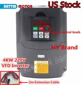 us Hy 4kw 220v Vfd Inverter 5hp Variable Frequency Drive 18a Vsd Cnc