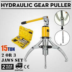 15t Hydraulic Bearing Gear Puller Wheel 33000lb 15t 300mm Max Spread With Box