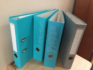 4 Bindertek 2 ring Assorted Binders 2 3 2 2 Binder Gray Teal Blue