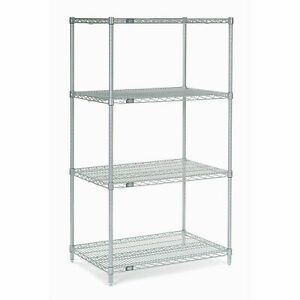 Chrome Wire Shelving 30 w X 18 d X 54 h Lot Of 1