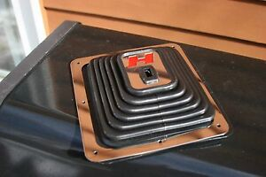 Chrome Large Big Super Boot H Red For Hurst Shifters