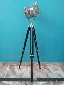 Searchlight Spot Light Floor Lamp And Wooden Tripod Stand Gift